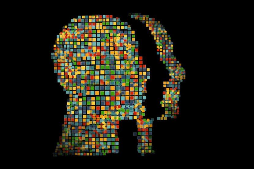 モザイク化した人間のイメージ